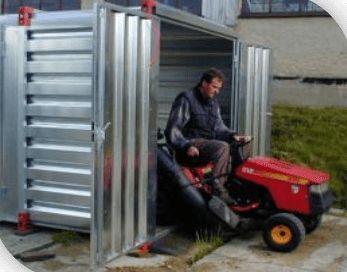 abri de jardin en acier galvanisé
